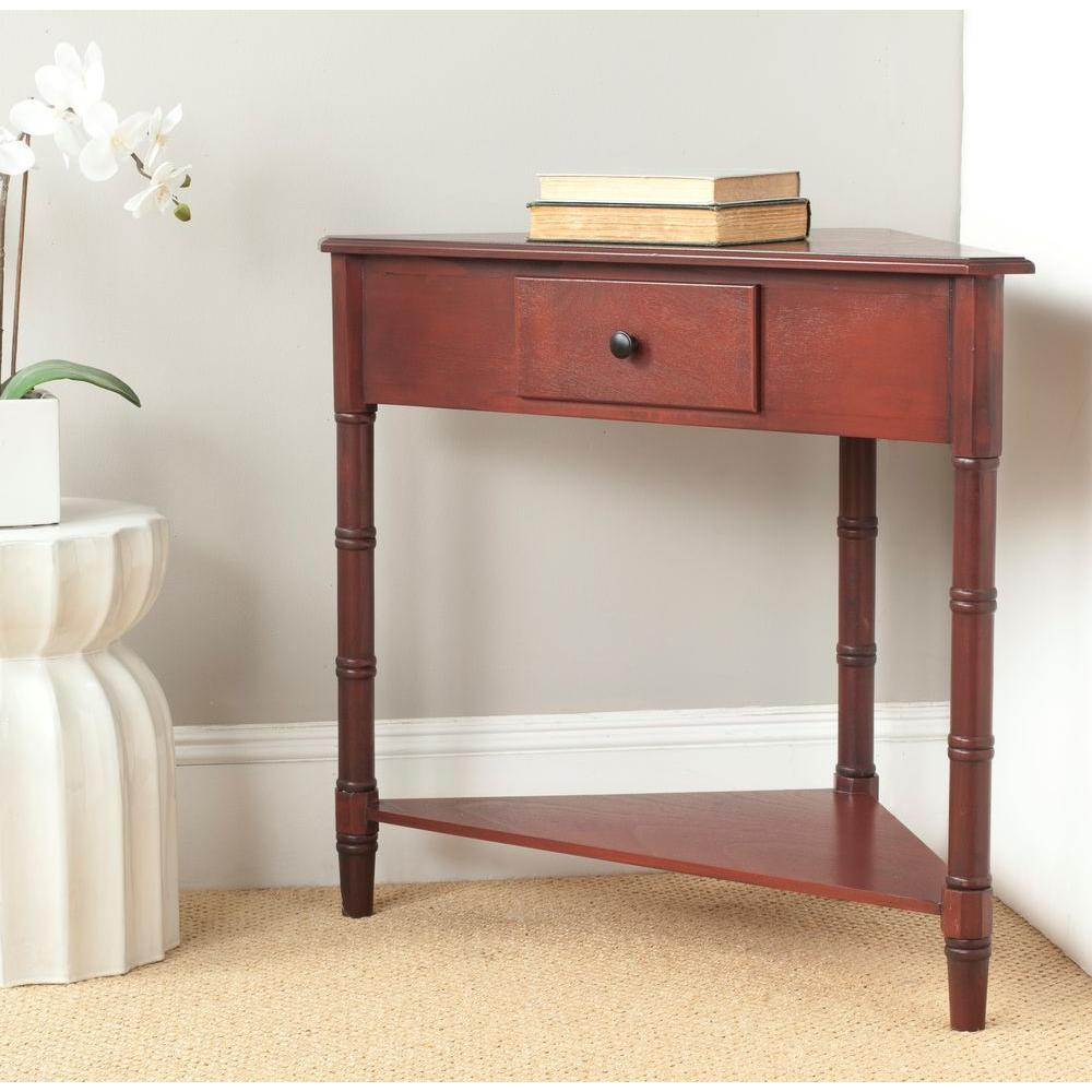 5 Console Table ~ Safavieh gomez red storage console table amh e the