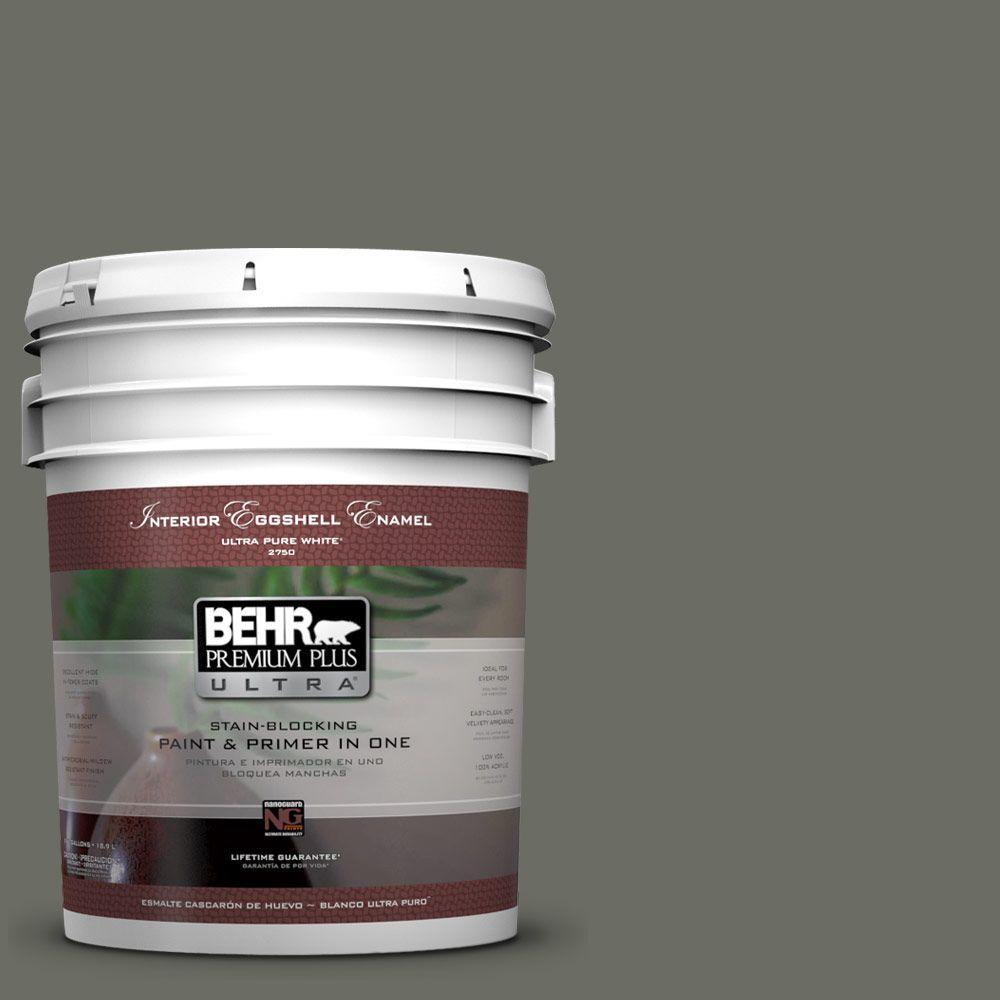 BEHR Premium Plus Ultra 5-gal. #N380-6 Bonsai Trunk Eggshell Enamel Interior Paint