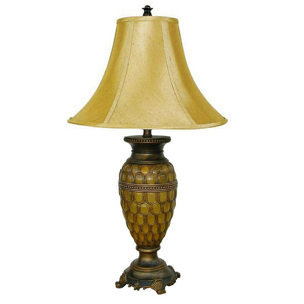 Ore International 28 In Brown Classic Small Table Lamp Honey 8233st