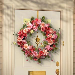 National Tree Company 32 inch Mixed Rose Spring Wreath by National Tree Company