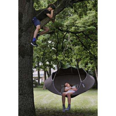 5 ft. Portable Tree Hammock in Taupe