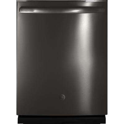 GE Profile Top Control Built-In Tall Tub Dishwasher in Black Stainless Steel with Stainless Steel Tub by GE Profile