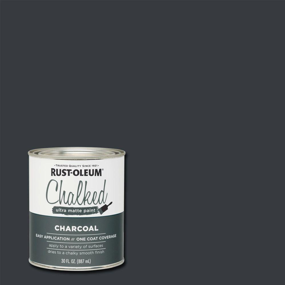 Rust Oleum 30 Oz Chalked Charcoal Ultra Matte Interior