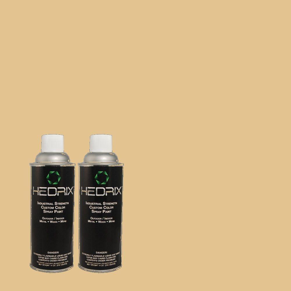 Hedrix 11 oz. Match of 364 Golden Sand Flat Custom Spray Paint (2-Pack)