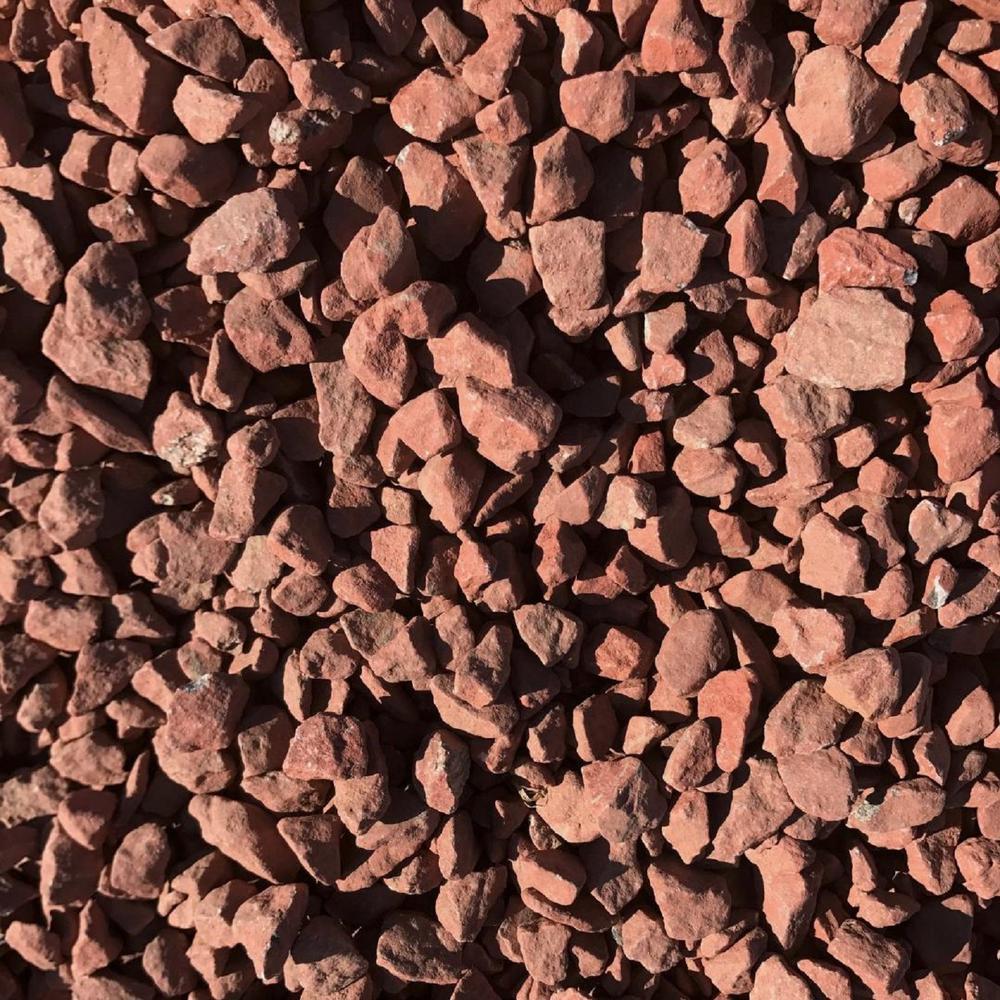 0.50 cu. ft. 40 lbs. 3/4 in. Scarlet Red Landscaping Gravel (20-Bag Pallet)