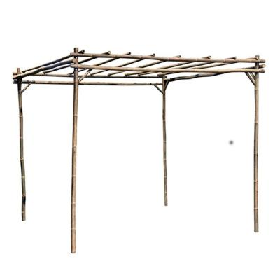 8 ft. L x 8 ft. W x 7 ft. H Natural Bamboo Square Pergola