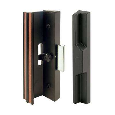 Extruded Aluminum, Black, Sliding Patio Door with Clamp Type Latch