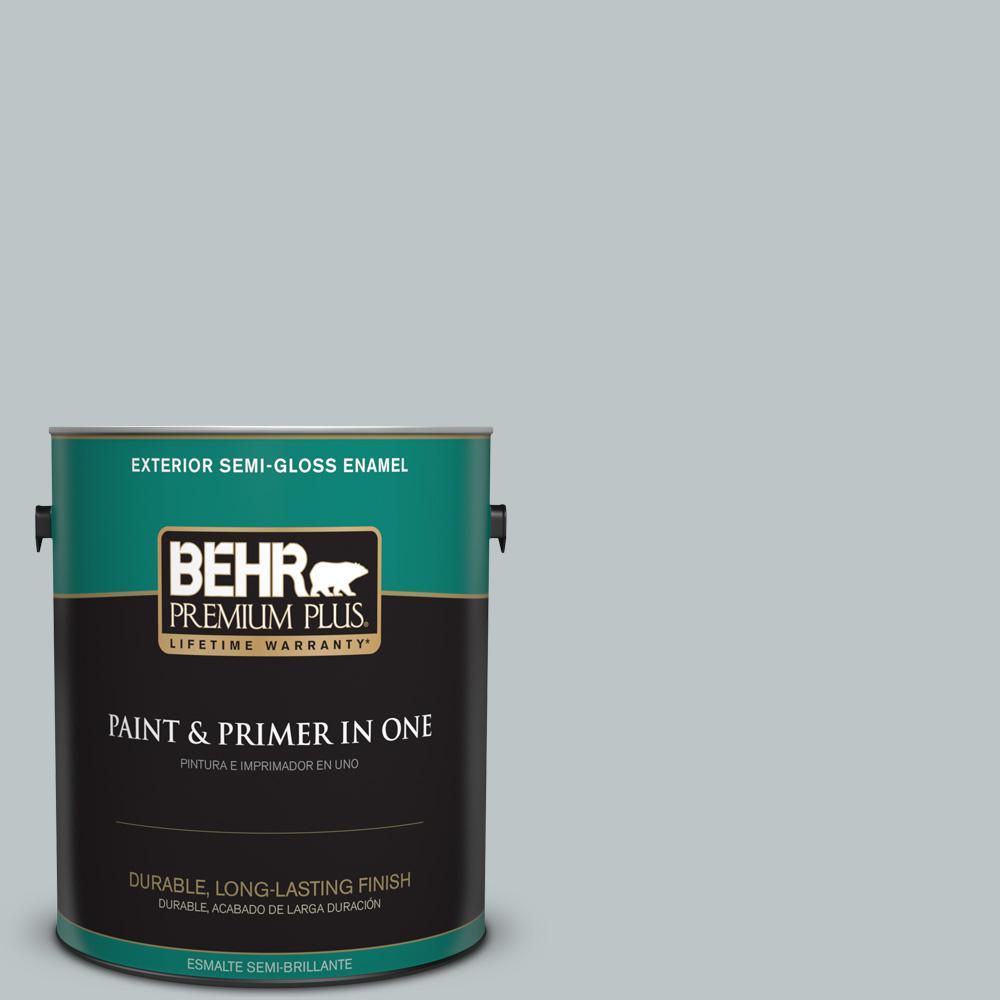 1 gal. #PPU12-10 Misty Morn Semi-Gloss Enamel Exterior Paint