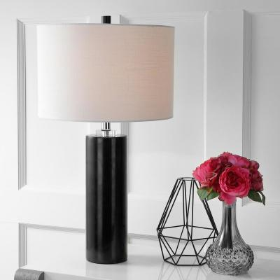 Brooks 27 in. H Black Marble/Crystal Table Lamp