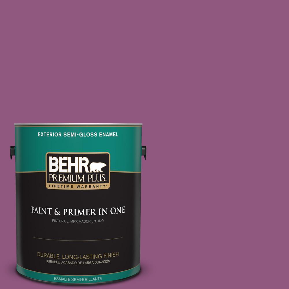 1 gal. #PPU1-18 Peru Semi-Gloss Enamel Exterior Paint