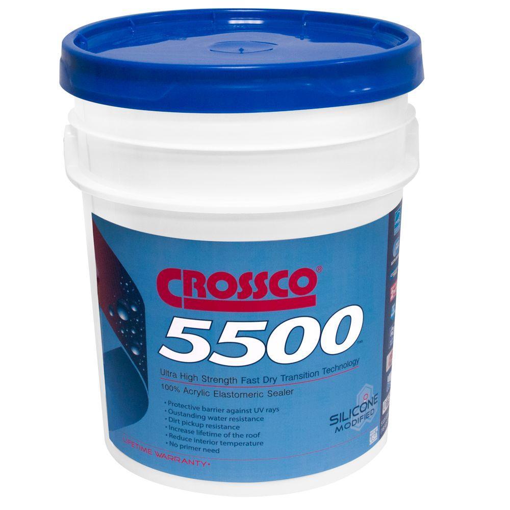 Crossco 5500 5-Gal. Acrylic Elastomeric Roof Coating and Sealer