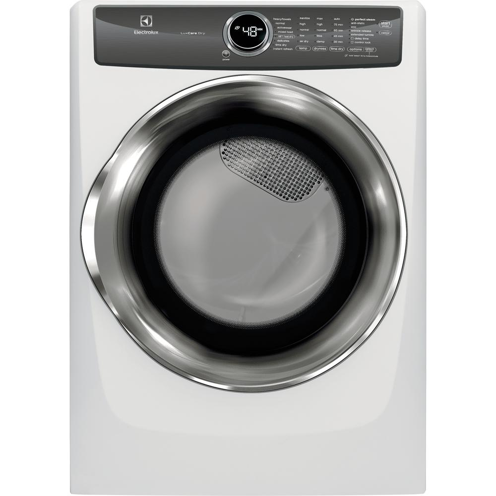 Electrolux 8.0 cu. ft. Front Load Perfect Steam Electric Dryer with LuxCare Dry and Instant Refresh in White