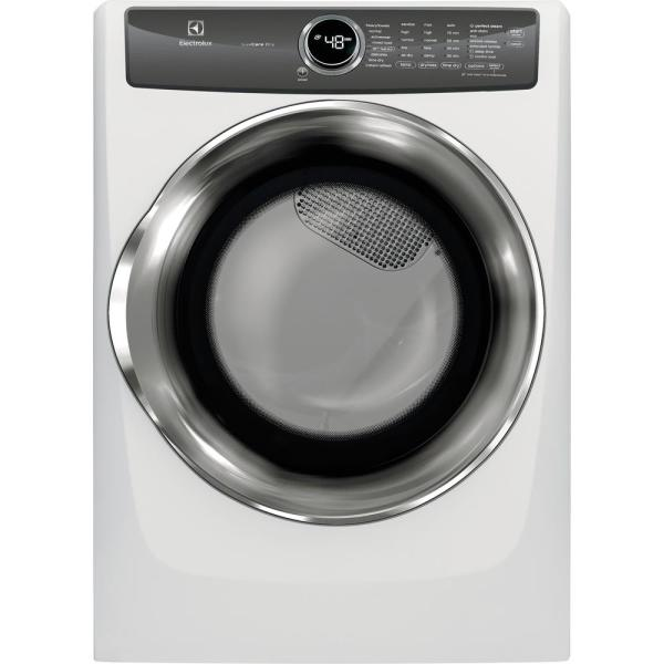 8.0 cu. ft. Front Load Perfect Steam Electric Dryer with LuxCare Dry and Instant Refresh in White
