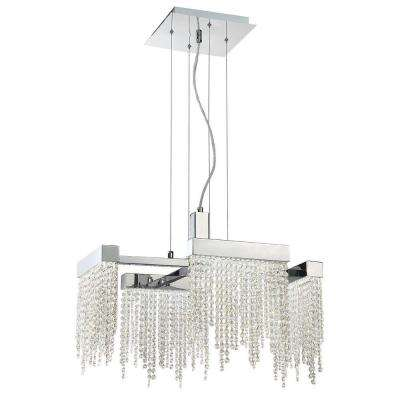 Rossi Collection 40-Watt Chrome Integrated LED Chandelier with Crystal Shade