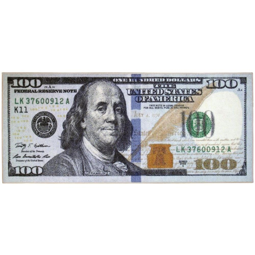 Siesta Kitchen 100 Dollar Bill Design Print 2 ft x 4 ft ... 100 Dollar Bill