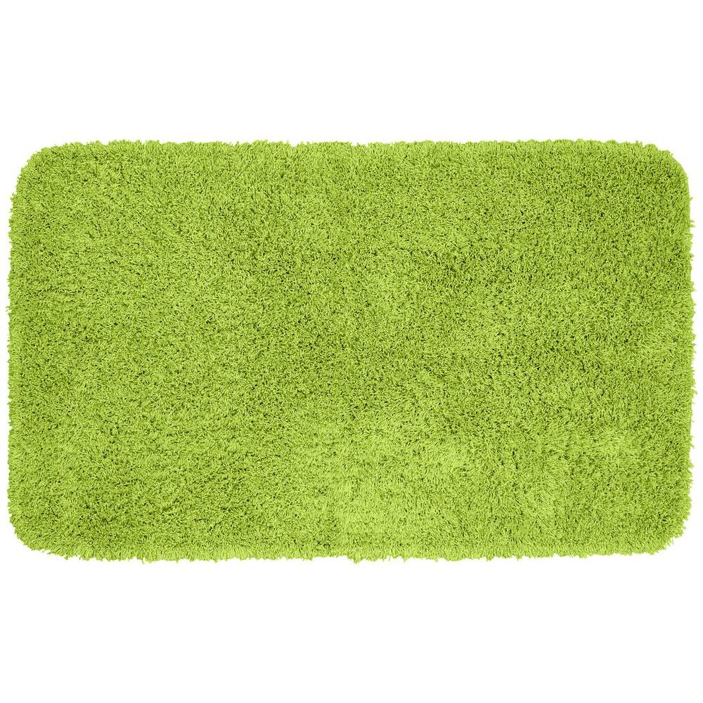 Lime Green Overdyed Rug: Garland Rug Jazz Lime Green 30 In. X 50 In. Washable
