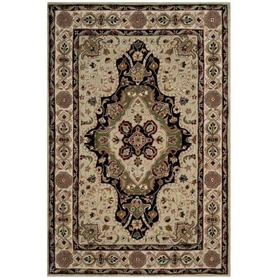Total Performance Soft Green/Ivory 4 ft. x 6 ft. Area Rug