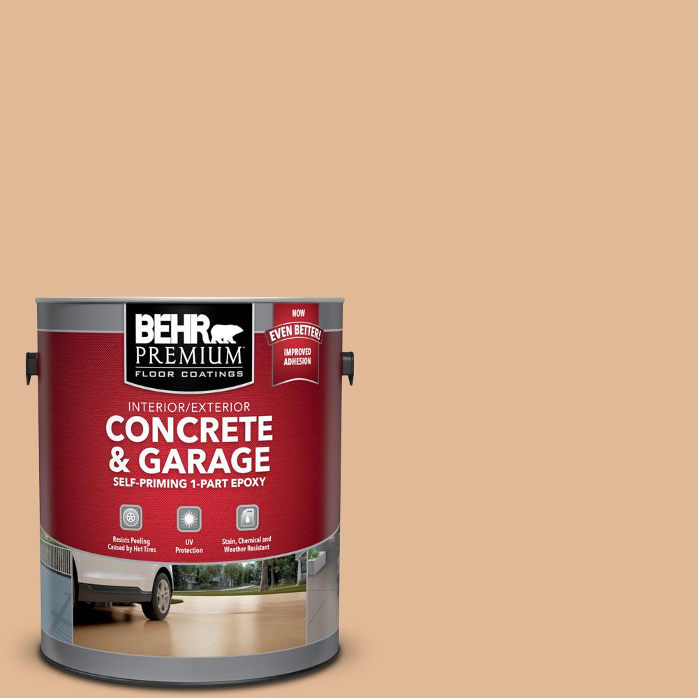 BEHR Premium 1 gal. #S250-3 Honey Nougat Self-Priming 1-Part Epoxy Satin Interior/Exterior Concrete and Garage Floor Paint