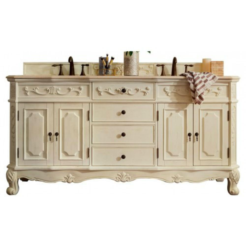 James Martin Signature Vanities Naples 72 In W Double Vanity In