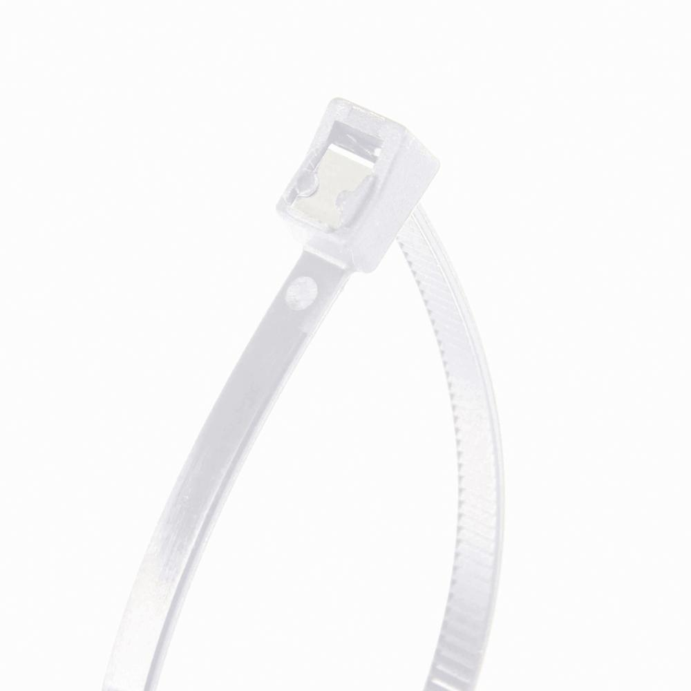 8 in. Self Cutting Cable Tie Natural 50lb (50-Pack) Case of