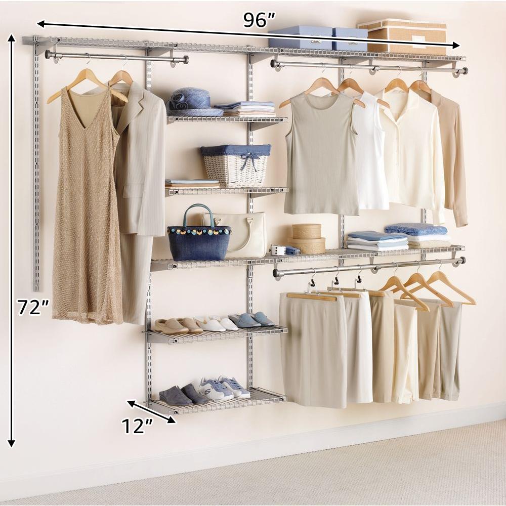 Rubbermaid Configurations Closet 4 - 8 ft. Titanium Deluxe ...