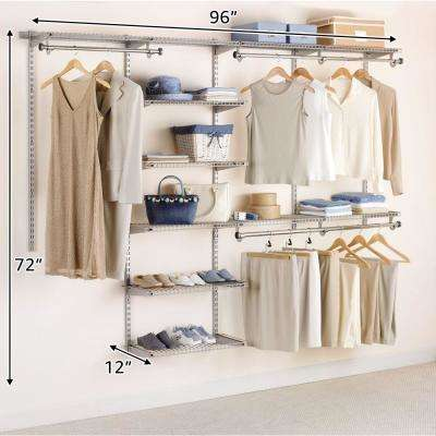 Configurations Closet 4 - 8 ft. Titanium Deluxe Kit