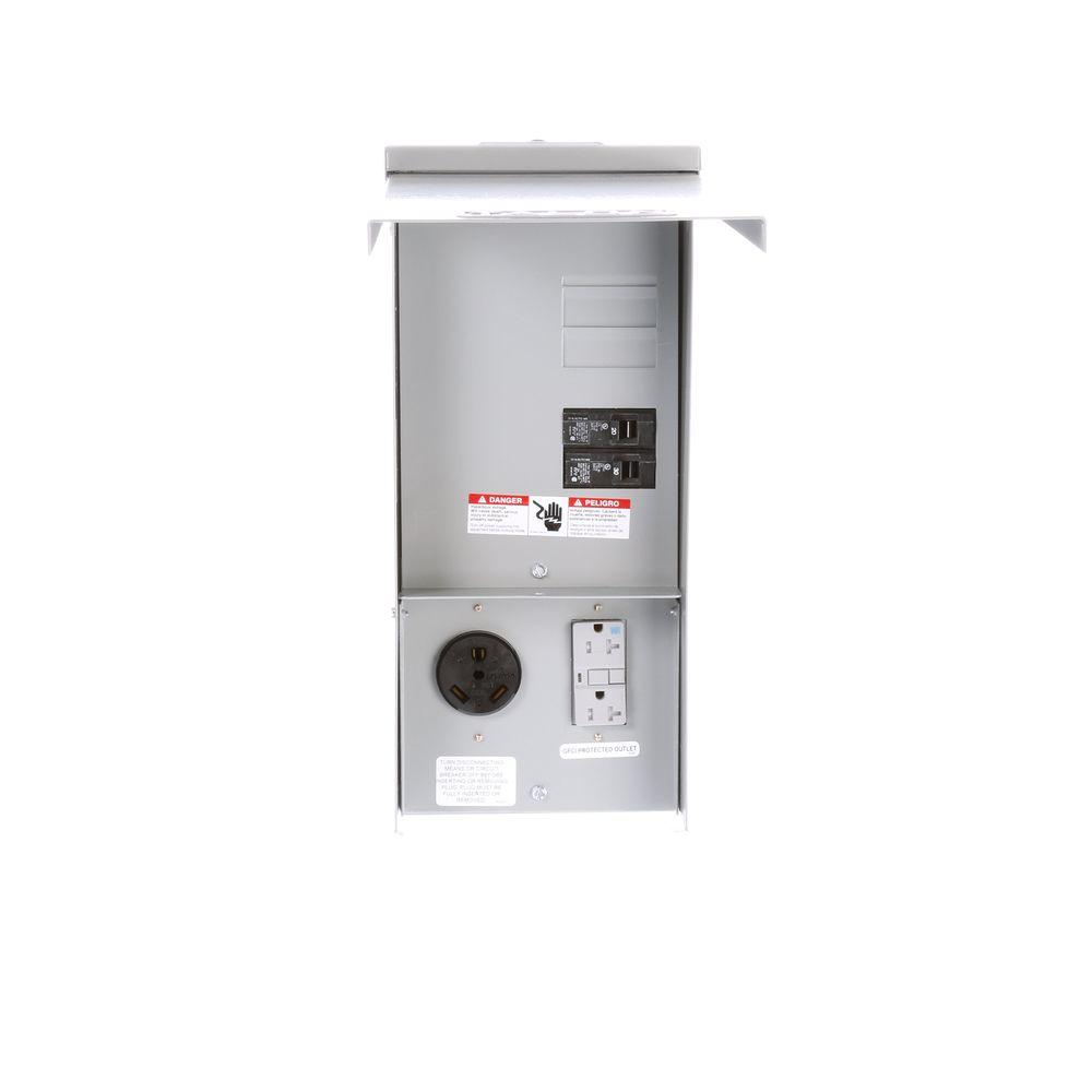 Talon Temporary Power Outlet Panel With 20 And 30 Amp