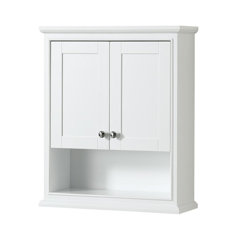 Wyndham Collection Deborah 3 in. W x 3 in. H x 3 in. D Bathroom Storage  Wall Cabinet in White-WCS3WCWH - The Home Depot