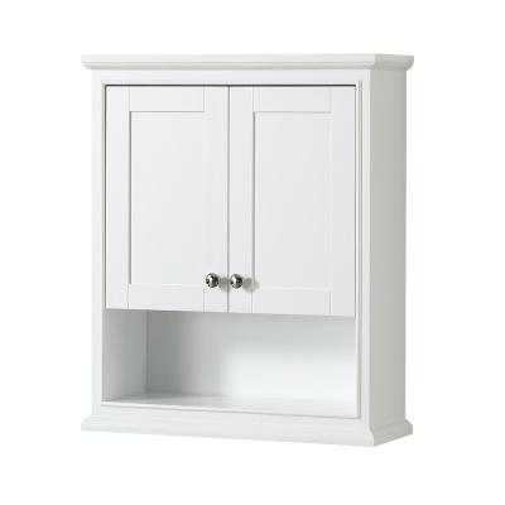 Deborah 25 in. W x 30 in. H x 9 in. D Bathroom Storage Wall Cabinet in White