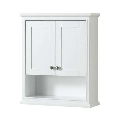 Deborah 25 in. W x 30 in. H x 9 in. D Bathroom Storage Wall Cabinet in White