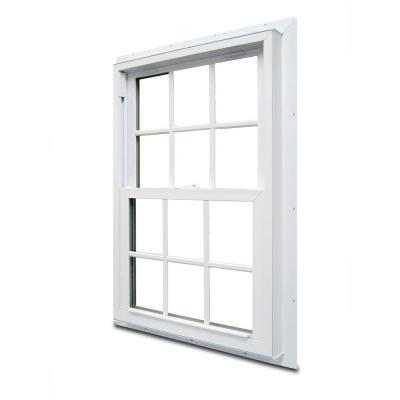 29.75 in. x 48.75 in. 70 Series Double Hung White Vinyl Window with Nailing Flange and Colonial Grilles
