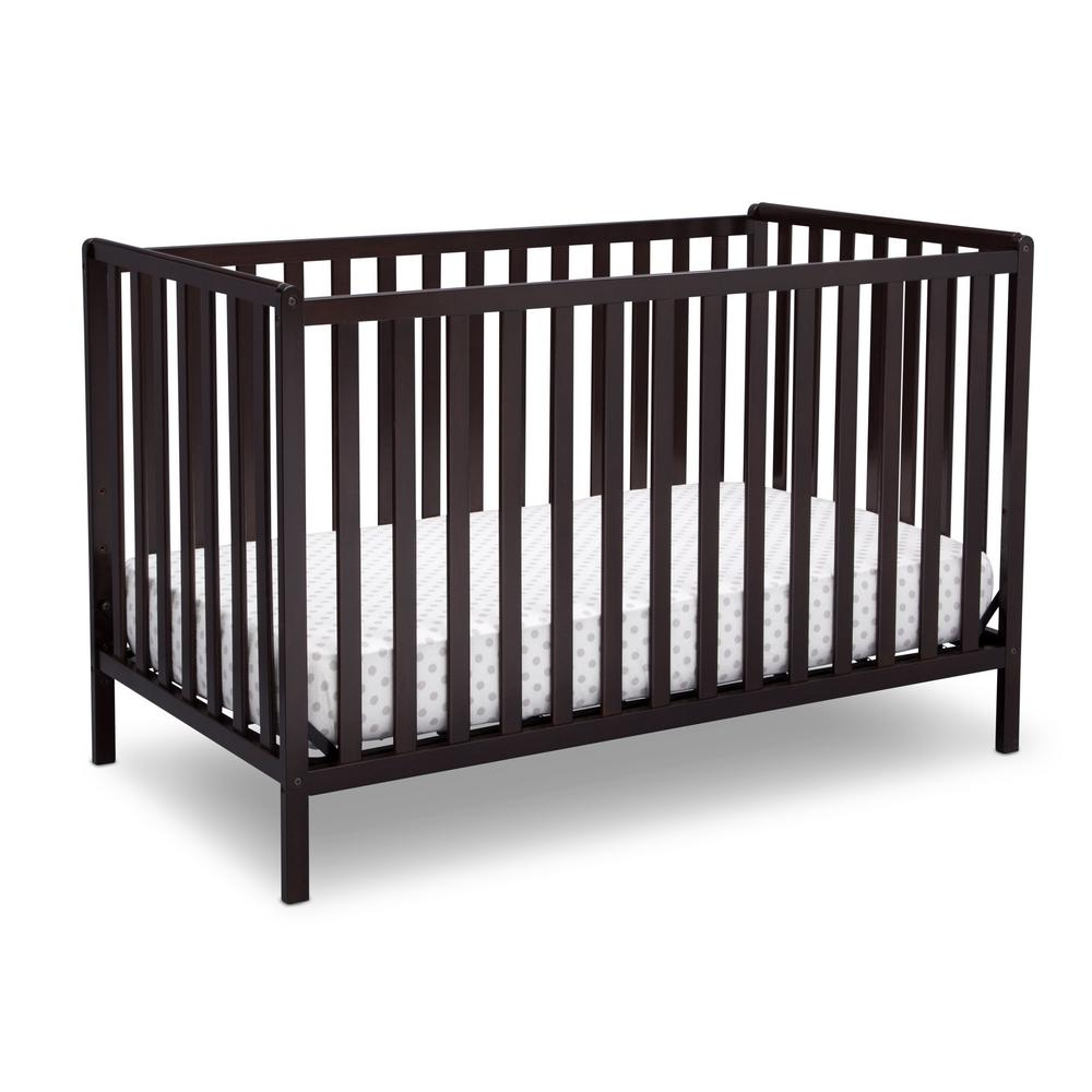 Delta Children Dark Chocolate Heartland 4 In 1 Convertible Crib