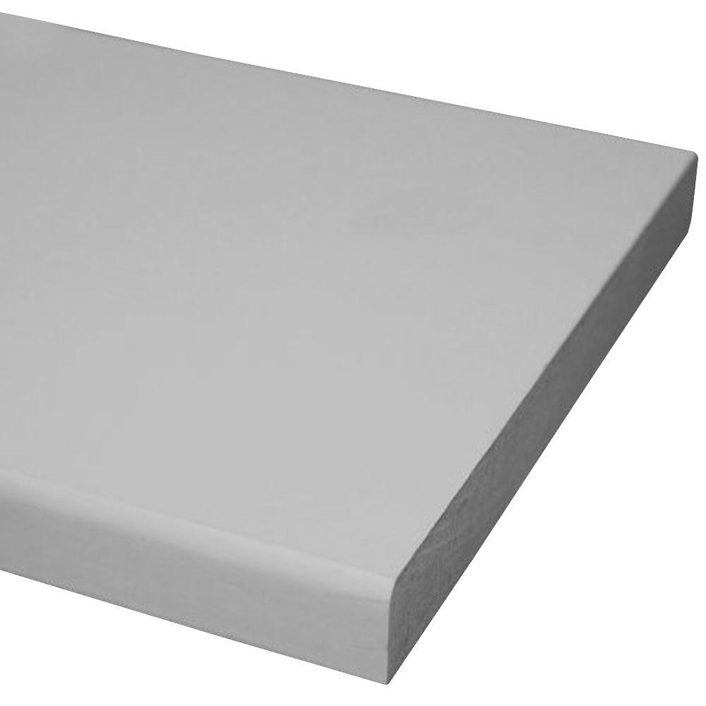 Pac Trim Primed MDF Board (Common: 11/16 in. x 7-1/4 in. x 8 ft.; Actual: 0.669 in. x 7.25 in. x 96 in.)
