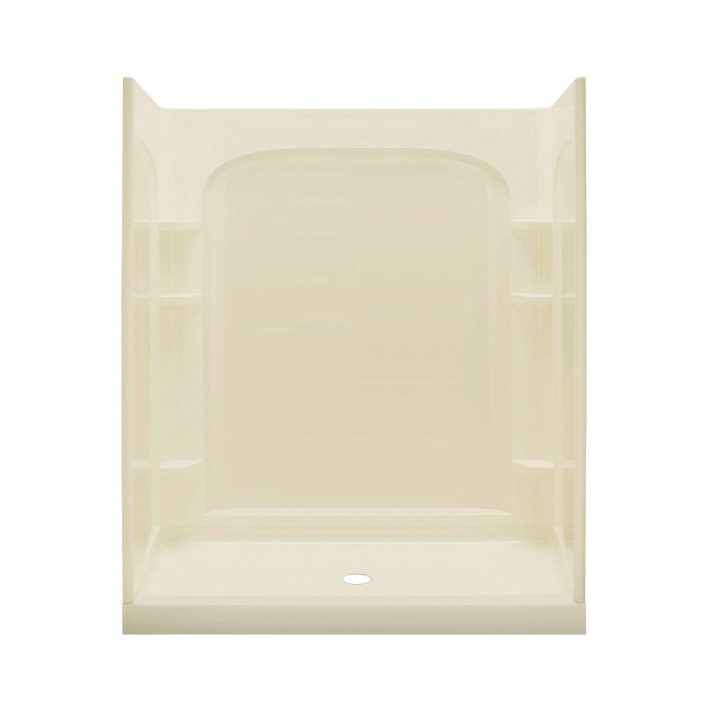 STERLING Ensemble 35 in. x 60 in. x 77 in. Shower Kit with Age-in-Place Backers in Almond-DISCONTINUED