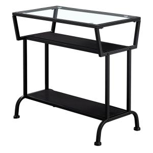 Jasmine 22 in. Cappuccino/ Black Metal End Table