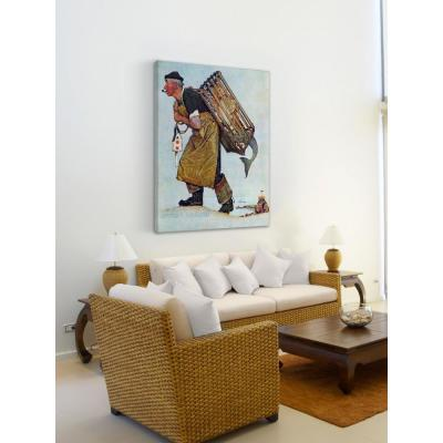 """48 in. H x 40 in. W """"Mermaid"""" by Norman Rockwell Printed Canvas Wall Art"""