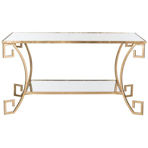 Yasemeen Antique Gold Leaf Coffee Table