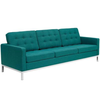 Loft Teal Upholstered Fabric Sofa