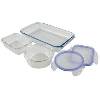 Baker's Staples 5-Piece Borosilicate Glass Bakeware Set with Lids