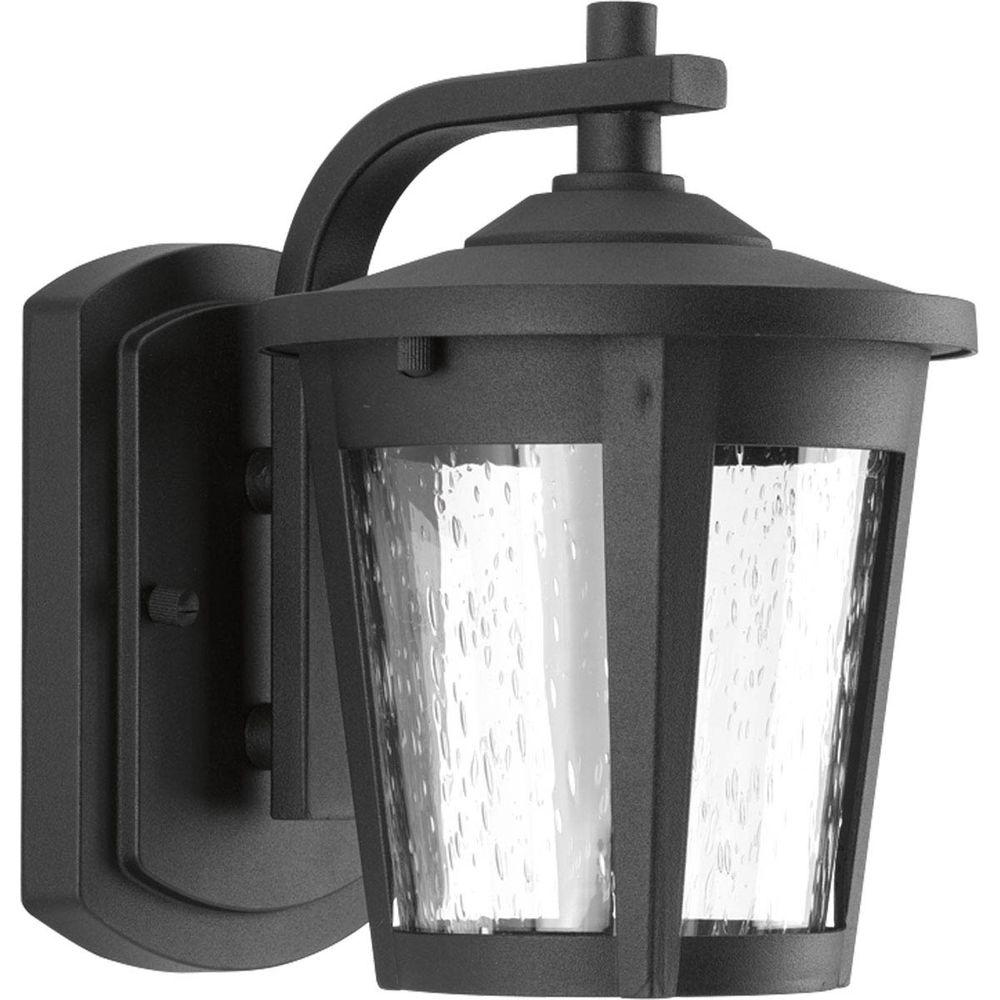 Progress Lighting East Haven Collection 1 Light Outdoor Black LED Wall Lantern P6077 3130K9