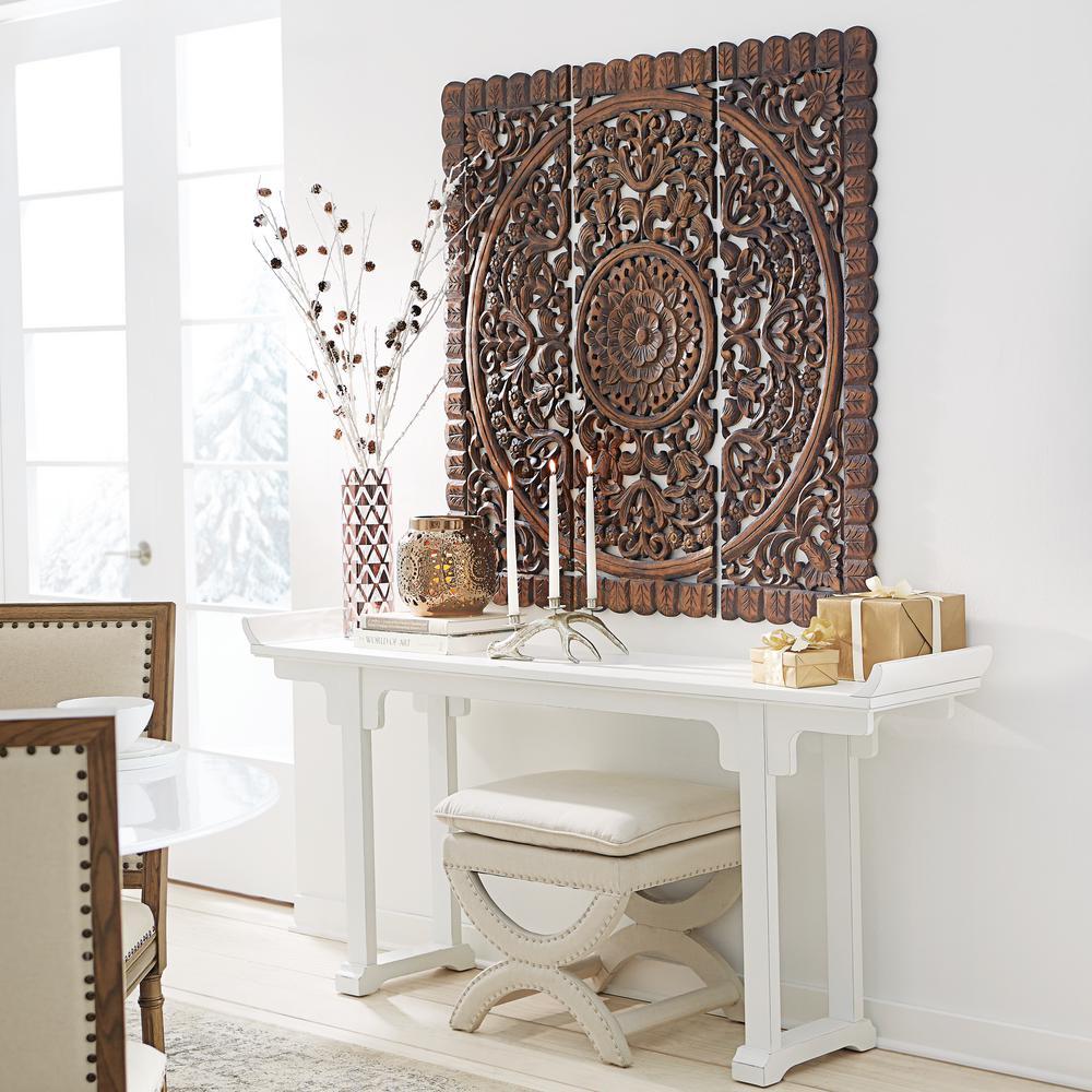Carved wood panel wall decor   Wall Decor & Visual Arts   Compare ...