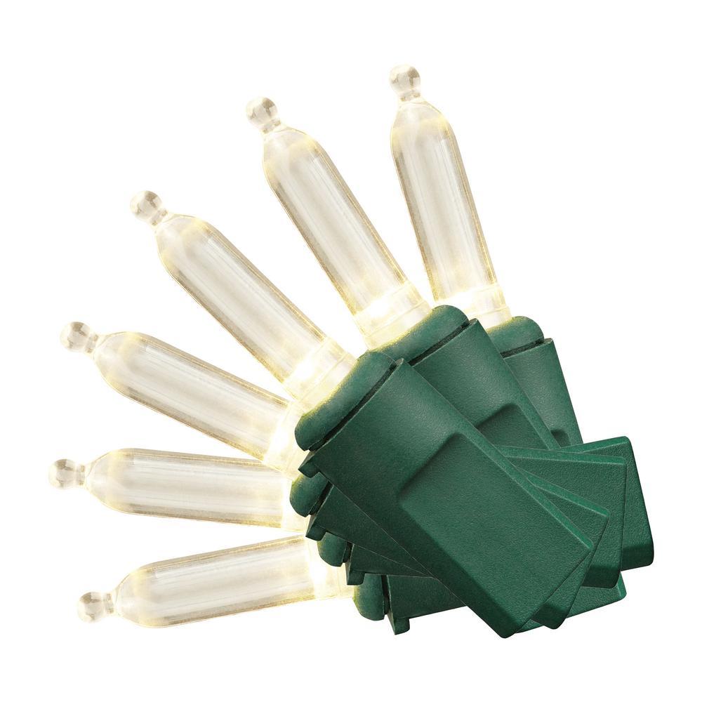 300-Light Mini Warm White LED Christmas Lights