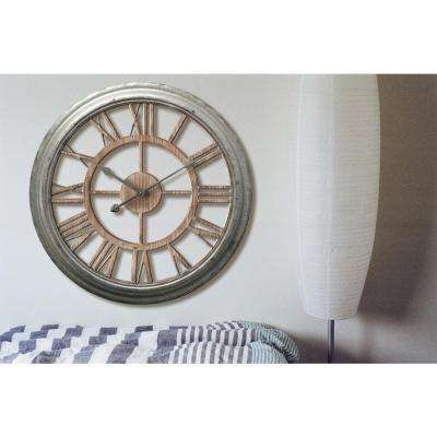 Ole Fashion 26 in. x 26 in. Round Wall Clock