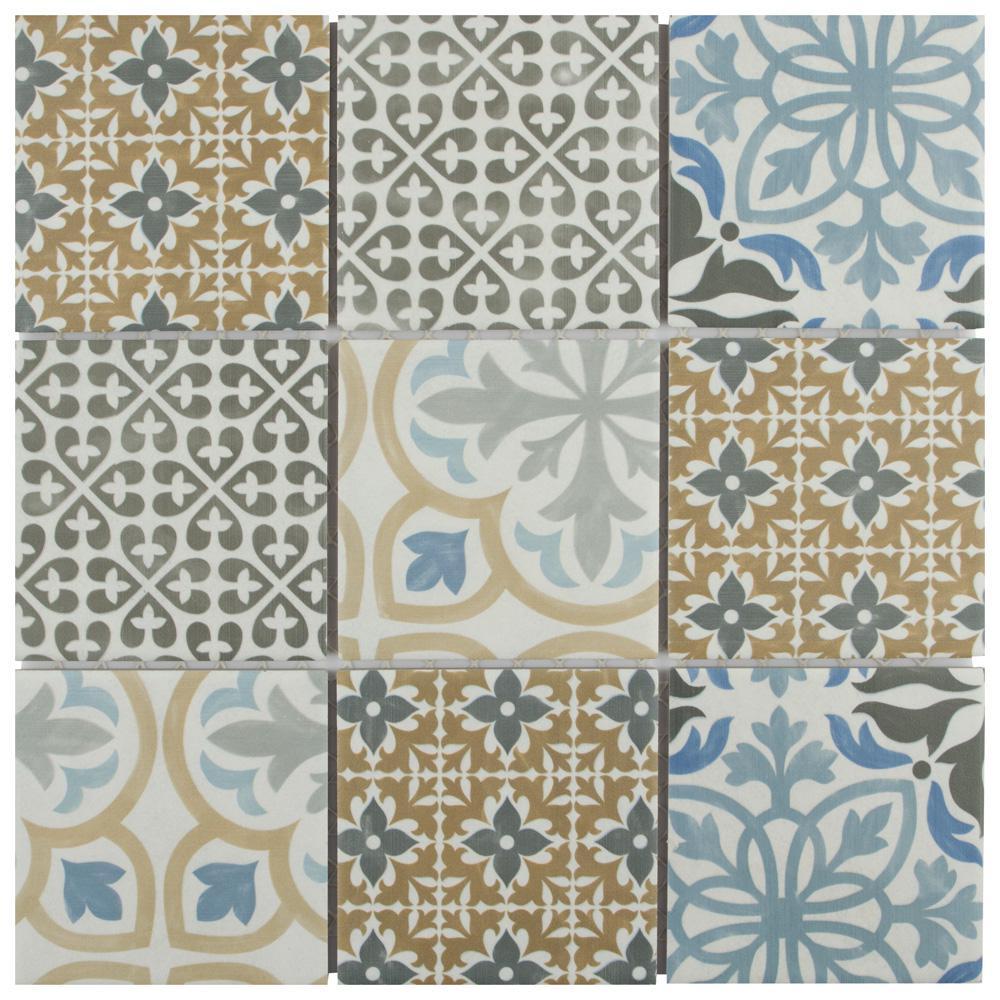 Porto 11-3/4 in. x 11-3/4 in. x 6mm Porcelain Mosaic Tile