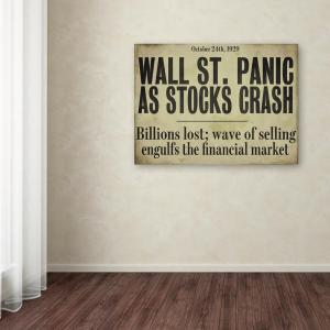 18 In X 24 Wallstreet By Color Bakery Printed Canvas Wall Art