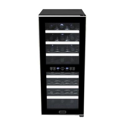 24-Bottle Dual Zone Touch Control Stainless Trim Wine Cooler