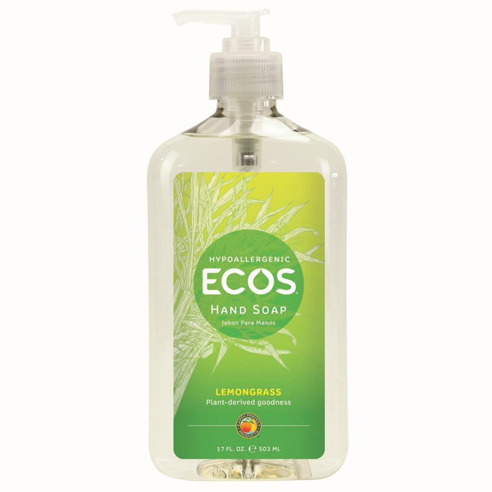 Earth Friendly Products 17 oz. Pump Bottle Lemongrass Scented Hand Soap