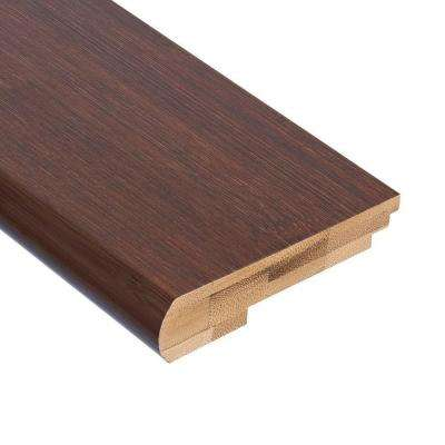 Horizontal Walnut 9/16 in. Thick x 3-3/8 in. Wide x 78 in. Length Bamboo Stair Nose Molding