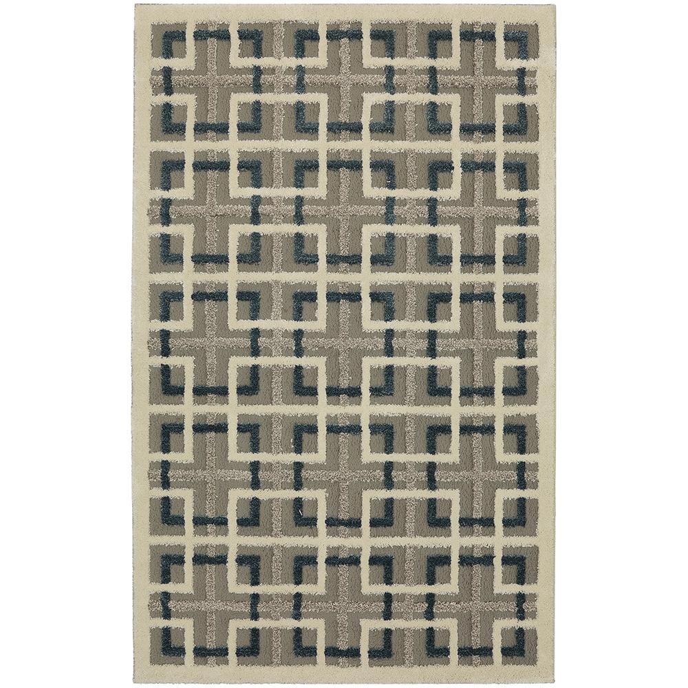 Square Off Lt Grey 8 ft. x 10 ft. Area Rug