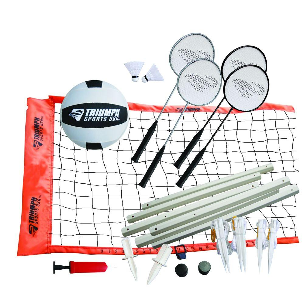 triumph sports usa advanced badminton volleyball set 35 7142 the
